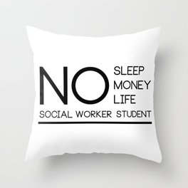 Social Worker Student Gifts For Graduation Social Worker Throw Pillow