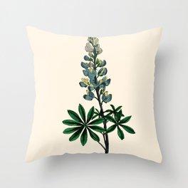 Lupin Vintage Botanical Print Throw Pillow