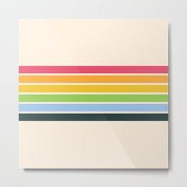 Tarama - Classic 70s Style Retro Stripes Metal Print