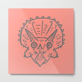 Asteroid Anxiety - Triceratops Metal Print