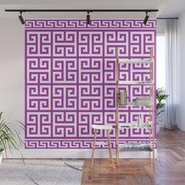 Greek Key (Purple & White Pattern) Wall Mural