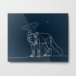 Fox line Metal Print