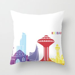 Khobar skyline pop Throw Pillow
