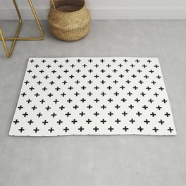 Black Swiss Cross Rug