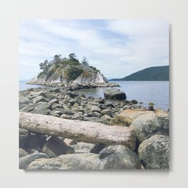 Low Tide at Whytecliff Park Metal Print