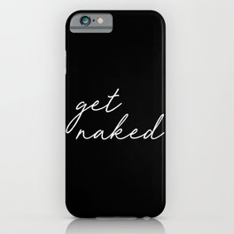 get naked bathroom decor iPhone Case