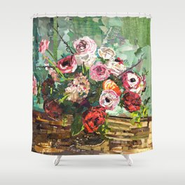 Tin Can Studio Floral 2 Shower Curtain