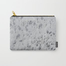 Silver Hide Print Metallic Carry-All Pouch