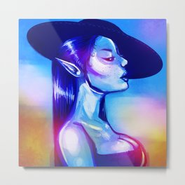 The Blue Witch Metal Print