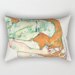 Egon Schiele - Lovemaking - Digital Remastered Edition Rectangular Pillow
