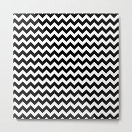 Zig Zag (Black & White Pattern) Metal Print