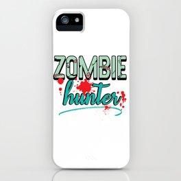 Zombie Hunter Maggot Infested Blood Splatter Apocalypse design iPhone Case