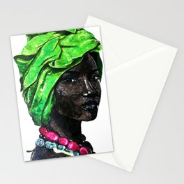 African Beauty Queen Stationery Cards