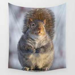 Squirrel Perched Wall Tapestry