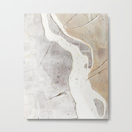 Feels: a neutral, textured, abstract piece in whites by Alyssa Hamilton Art Metal Print