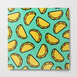 It's Taco Time! Metal Print