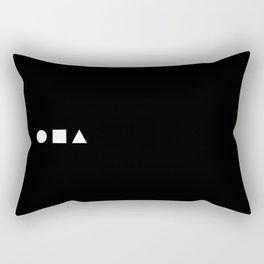 Square Pegs in Round Holes Rectangular Pillow