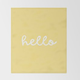 HELLO YELLOW Throw Blanket