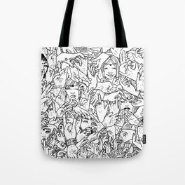 Face'in the hands Tote Bag