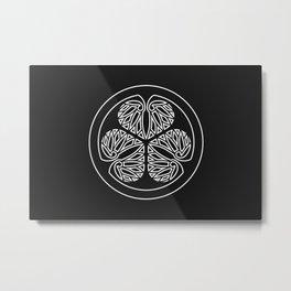Tokugawa Clan · White Mon · Outlined Metal Print