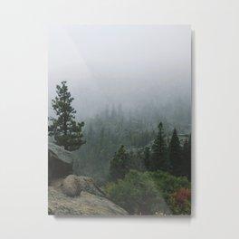 Foggy Emerald Bay Metal Print