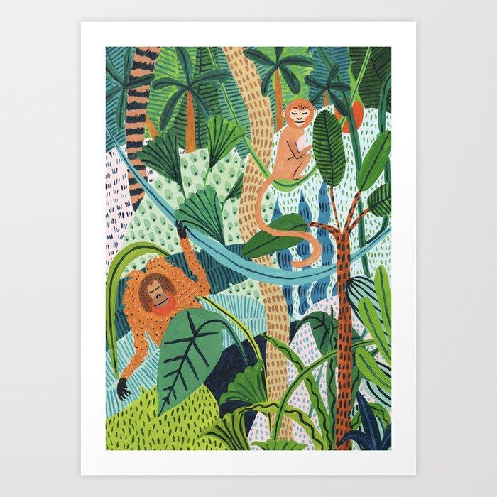Monkey Pals Kunstdrucke