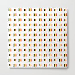 Flag of belgium 8 handmade Metal Print