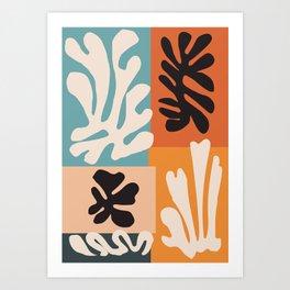 Bohemian Floral Art Print on Canvas, Modern, Contemporary, Pop Art, Large Wall Art, Floral Blooming Art Print
