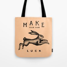 MAKE YOUR OWN LUCK (Coral) Tote Bag
