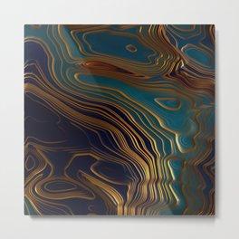 Peacock Ocean Metal Print