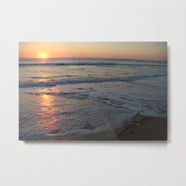 Sunrise over the Indian Ocean Metal Print