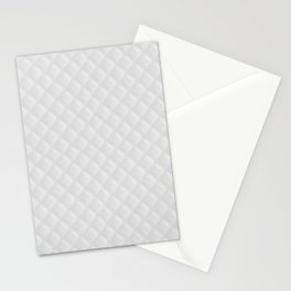 Bright White Stitched and Quilted Pattern Stationery Cards