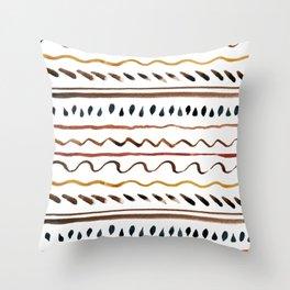 Line ornament Throw Pillow