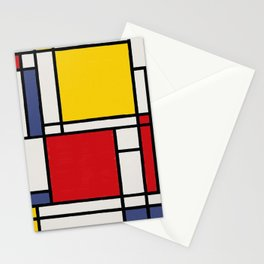 Abstract Mondrian Style Art Stationery Cards