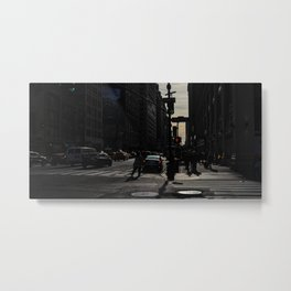 New York City, Manhattan, streets, people (2019-GNY14) Metal Print