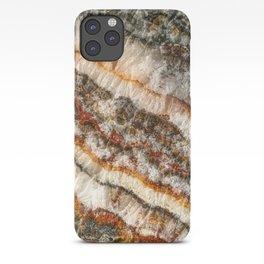 Agate Crystal V // Red Gray Black Yellow Orange Marbled Diamond Luxury Gemstone iPhone Case