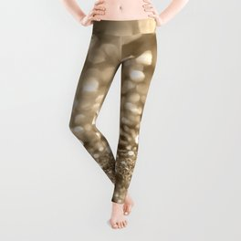 Champagne Gold Lady Glitter #2 #shiny #decor #art #society6 Leggings