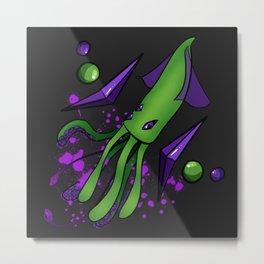 Gem Squid Metal Print