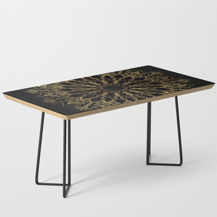 Golden Bee Mandala Coffee Table