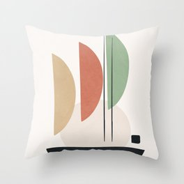 Minimal Shapes No.59 Throw Pillow