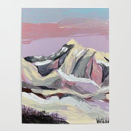 Purple Mountain Poster