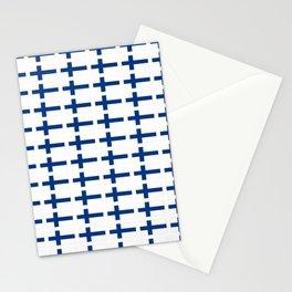 Flag of Finland 3 -finnish, Suomi, Sami,Finn,Helsinki,Tampere Stationery Cards