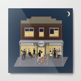 Moon Bar by night, Newtown, Wellington, NZ Metal Print