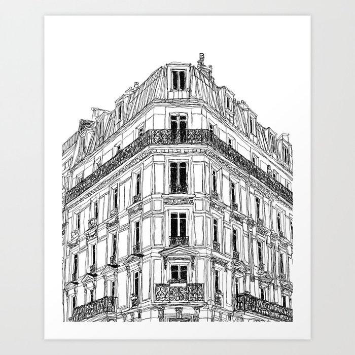 Parisian Facade Kunstdrucke