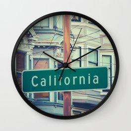 Retro California Street Sign Wall Clock