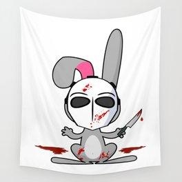Psycho Bunny | Horror Rabbit Wall Tapestry