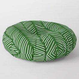 Forest Green Herringbone Floor Pillow