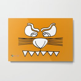 Tiger Eyes Metal Print