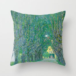 Avenue In The Park Of Schloss Kammer Throw Pillow