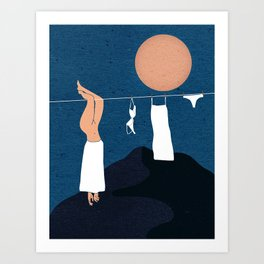 Hang Me Out to Dry Art Print
